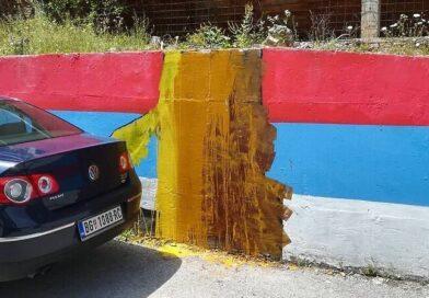 Мурал Ратка Младића поново на мети вандала